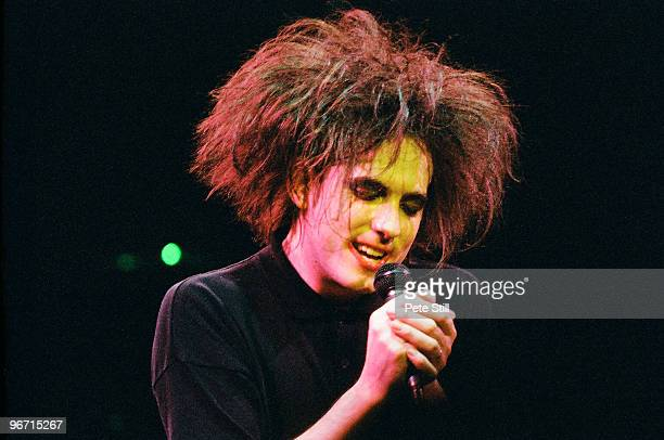 Robert Smith of The Cure performs on stage at a benefit concert for Greenpeace at The Royal Albert Hall on April 25th 1986 in London United Kingdom