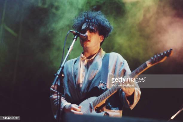 Robert Smith of The Cure performs on stage Brazil March 1987
