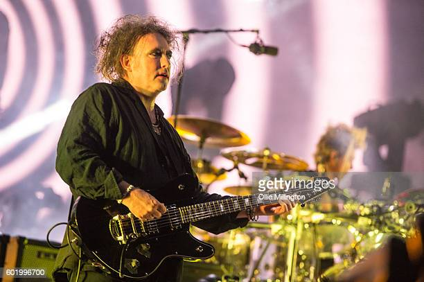 Robert Smith of The Cure performs onstage headlining day 3 of Bestival 2016 at Robin Hill Country Park on September 10 2016 in Newport Isle of Wight