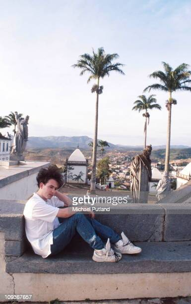 Robert Smith of The Cure portrait Brazil March 1987