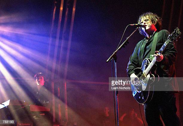 Robert Smith of the rock band The Cure performs on stage at the Livid Festival October 21 2000 in Brisbane Australia