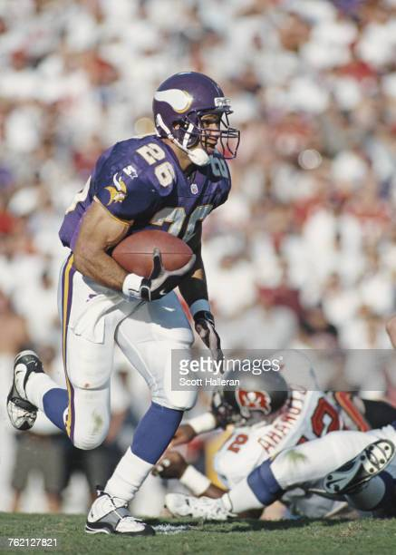 Robert Smith, Running Back for the Minnesota Vikings during the National Football Conference Central game against the Tampa Bay Buccaneers on 26...