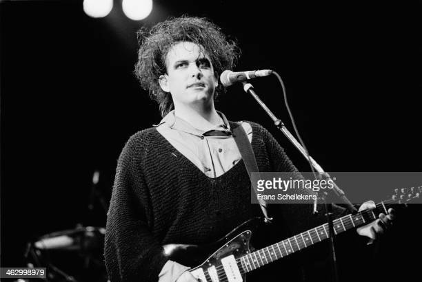 Robert Smith vocal performs with The Cure at Torhout/Werchter festival in Torhout Belgium on 7th July 1989