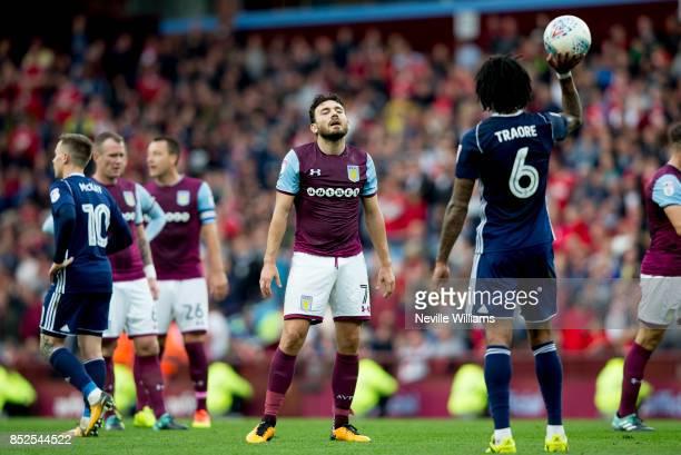 Robert Snodgrass of Aston Villa during the Sky Bet Championship match between Aston Villa and Nottingham Forest at Villa Park on September 23 2017 in...