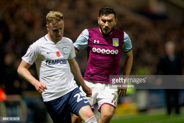 Robert Snodgrass of Aston Villa during the Sky Bet Championship match between Preston North End and Aston Villa at Deepdale on November 01 2017 in...