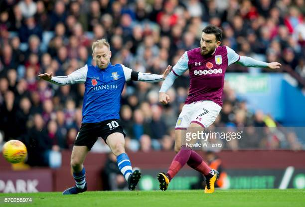 Robert Snodgrass of Aston Villa during the Sky Bet Championship match between Aston Villa and Sheffield Wednesday at Villa Park on November 04 2017...