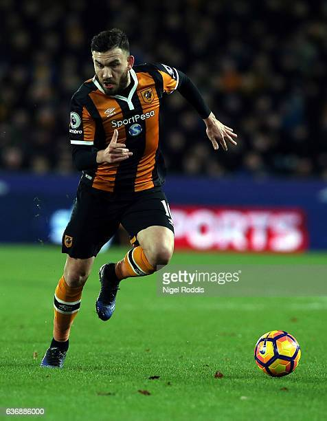 Robert Snodgrass of Hull City during the Premier League match between Hull City and Manchester City at KC Stadium on December 26 2016 in Hull England
