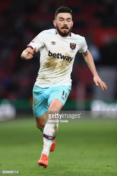 Robert Snodgrass of West Ham United during the Premier League match between Southampton and West Ham United at St Mary's Stadium on February 4 2017...