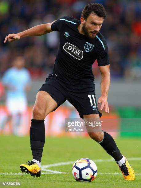 Robert Snodgrass of West Ham United in action during a Pre Season Friendly between Manchester City and West Ham United at the Laugardalsvollur...
