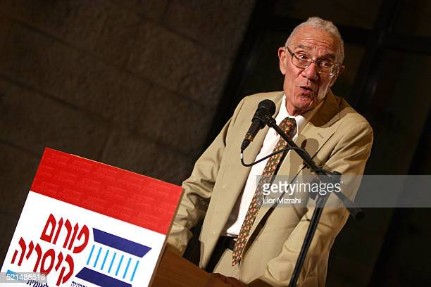 Robert Solow, 1987 Nobel Prize for Economics, delivers his speech during a conference on June 20, 2006 in Jerusalem, Israel.