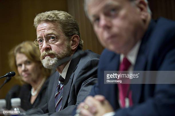 Robert Stack deputy assistant secretary for international tax affairs at the US Treasury Department from right Michael Danilack principal with...