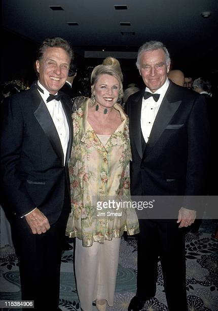Robert Stack Rosemary Stack and Charlton Heston during 50th Anniversary Party For Charlton Heston and Lydia Heston at Hotel Nikko in Beverly Hills...
