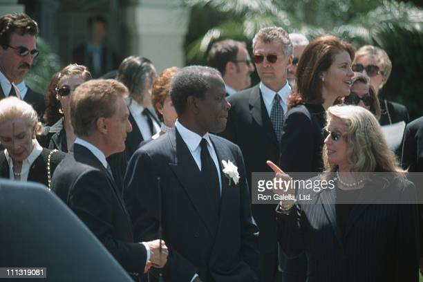 Robert Stack Sidney Poitier Joanna Shimkus and guests