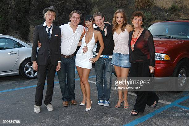 Robert Stadlober Hanno Koffler Bai Ling Marco Kreuzpaintner Alicja BachledaCurus and attend OUTFEST 2005 Awards at Ford Amphitheatre on July 17 2005...