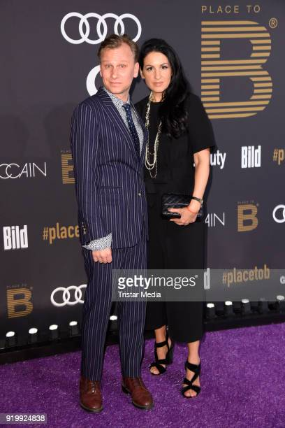 Robert Stadlober Minu Barati Fischer attend the PLACE TO B Party on February 17 2018 in Berlin Germany