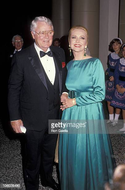 Robert Sterling and Anne Jeffreys during The Ireland Fund Honors Gene Kelly November 8 1990 at Beverly Wilshire Hotel in Beverly Hills California...