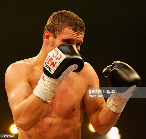 Robert Stieglitz of Germany in action during boxing night at the Stadthalle on March 3 2007 in Rostock Germany