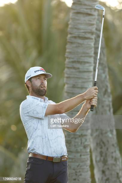 Robert Streb of the United States plays his shot from the seventh tee during the second round of the Sony Open in Hawaii at the Waialae Country Club...