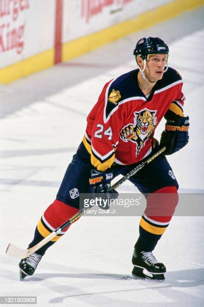 Robert Svehla, Defenseman for the Florida Panthers in motion on the ice during the NHL Eastern Conference Northeast Division game against the Buffalo...