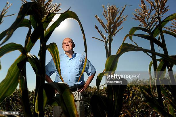 Robert T Fraley chief technology officer of Monsanto Co stands for a photograph at the company's test field in Woodland California US on Friday Aug...