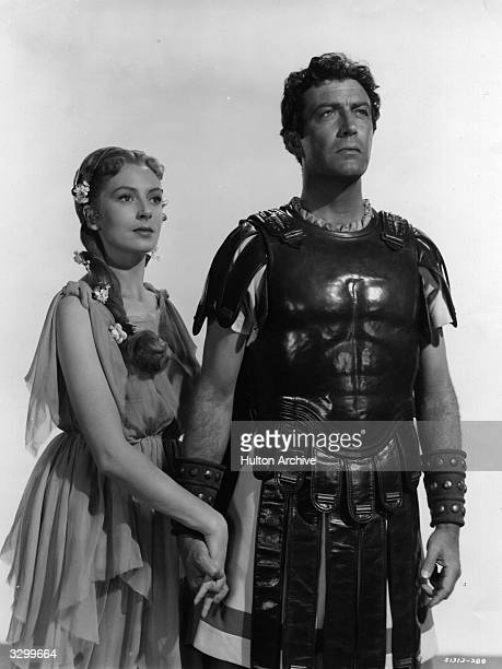 Robert Taylor and Deborah Kerr play Marcus Vinicius and Lygia in 'Quo Vadis' the story of a Roman commander who falls in love with a Christian girl...