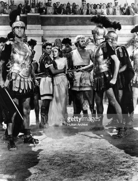 Robert Taylor Deborah Kerr and Buddy Baer star in 'Quo Vadis' the story of a Roman commander who falls in love with a Christian girl The film was...