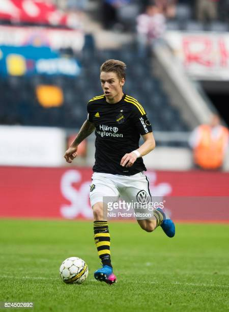 Robert Taylor of AIK during the Allsvenskan match between AIK and Kalmar FF at Friends arena on July 30 2017 in Solna Sweden