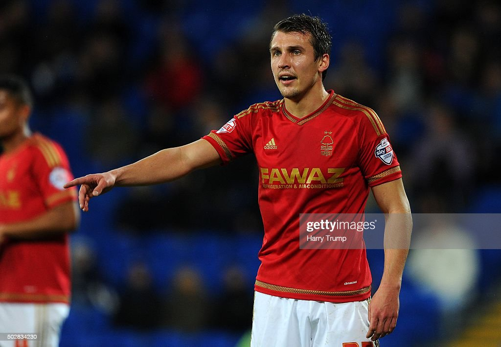 Robert Tesche of Nottingham Forest during the Sky Bet Championship match between Cardiff City and Nottingham Forest at the Cardiff City Stadium on December 29, 2015 in Cardiff, Wales.