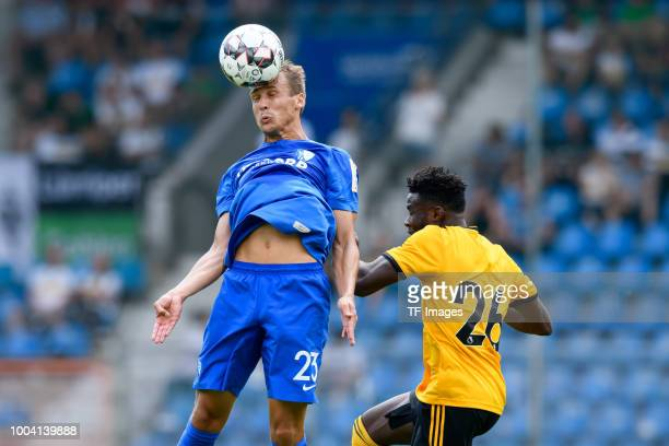 Robert Tesche of VfL Bochum and Bright Enobakhare of Wolverhampton Wanderers battle for the ball during the HHotels Cup match between VfL Bochum and...