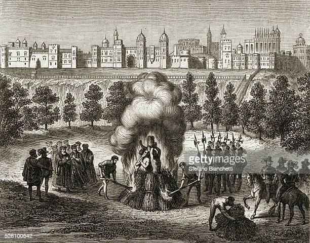 Robert Testwood Anthony Pierson and Henry Filmer were burned at the stake for heresy outside Windsor Castle