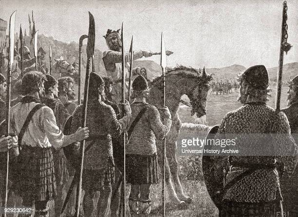 Robert the Bruce reviewing his troops before the Battle of Bannockburn 24 June 1314 Robert I 1274 – 1329 aka Robert the Bruce King of Scots From...