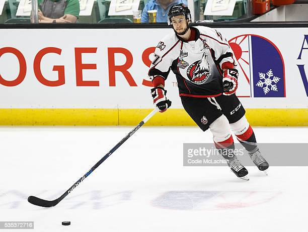 Robert Thomas of the Rouyn-Noranda Huskies warms up against the London Knights during the Memorial Cup Final on May 29, 2016 at the Enmax Centrium in...