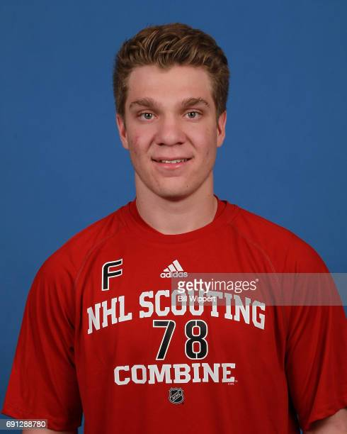 Robert Thomas poses for a headshot at the NHL Combine at HarborCenter on June 1 2017 in Buffalo New York