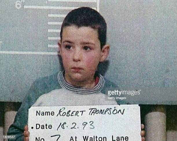 Robert Thompson 10 years of age poses for a mugshot for British authorities February 20 1993 in the United Kingdom Both Thompson and Jon Venables...
