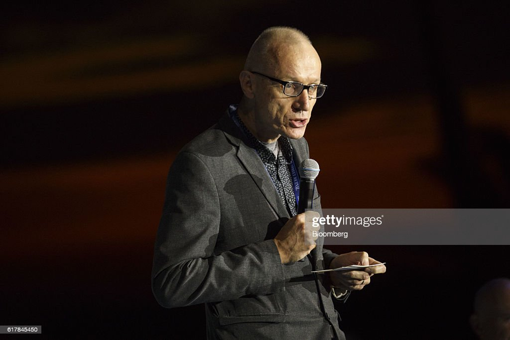 Robert Thomson, chief executive officer of News Corp, speaks during the WSJDLive Global Technology Conference in Laguna Beach, California, U.S., on Monday, Oct. 24, 2016. The conference brings together an unmatched group of top CEOs, founders, pioneers, investors and luminaries to explore tech opportunities emerging around the world. Photographer: Patrick T. Fallon/Bloomberg via Getty Images