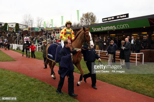 Robert Thornton on Oh Crick in the parade ring before the Jenny Mould Memorial Handicap Steeple Chase at Cheltenham Saturday December 11 2010 PA...