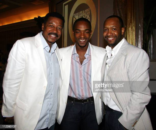 Robert Townsend Anthony Mackie and Jeff Friday during 2006 ABFF Independent Film Awards July 23 2006 at RitzCarlton Hotel in Miami Florida United...