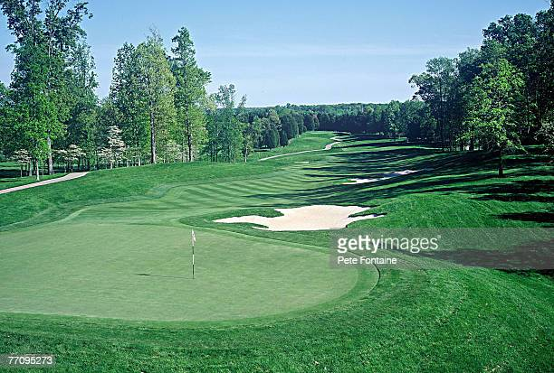 Robert Trent Jones Golf Club hole 2, designed by Robert Trent Jones Sr. And opened for play in 1991. Scenic Golf.