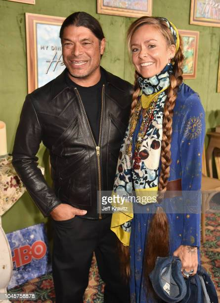 Robert Trujillo and Chloe Trujillo attend Los Angeles Premiere Of HBO Films MY DINNER WITH HERVE at Paramount Studios on October 4 2018 in Hollywood...