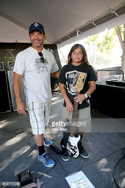 Robert Trujillo and Metallica and his son Tye Trujillo of The Helmets attend the Austin City Limits Music Festival at Zilker Park on October 9 2016...
