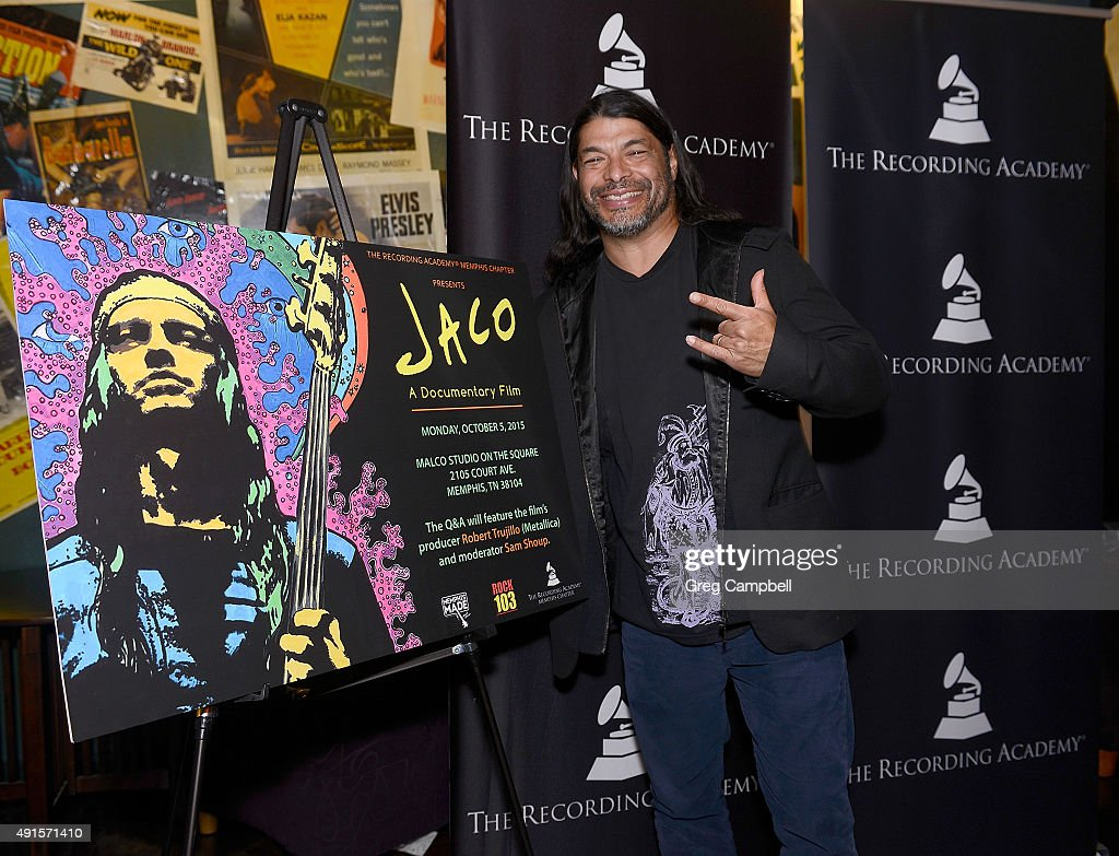 Robert Trujillo attends a screening and Q&A for the documentary 'Jaco' at Malco's Studio on the Square on October 5, 2015 in Memphis, Tennessee.