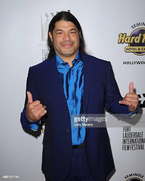 Robert Trujillo attends the Fort Lauderdale International Film Festival Opening Night at Seminole Hard Rock Hotel on November 6 2015 in Hollywood...
