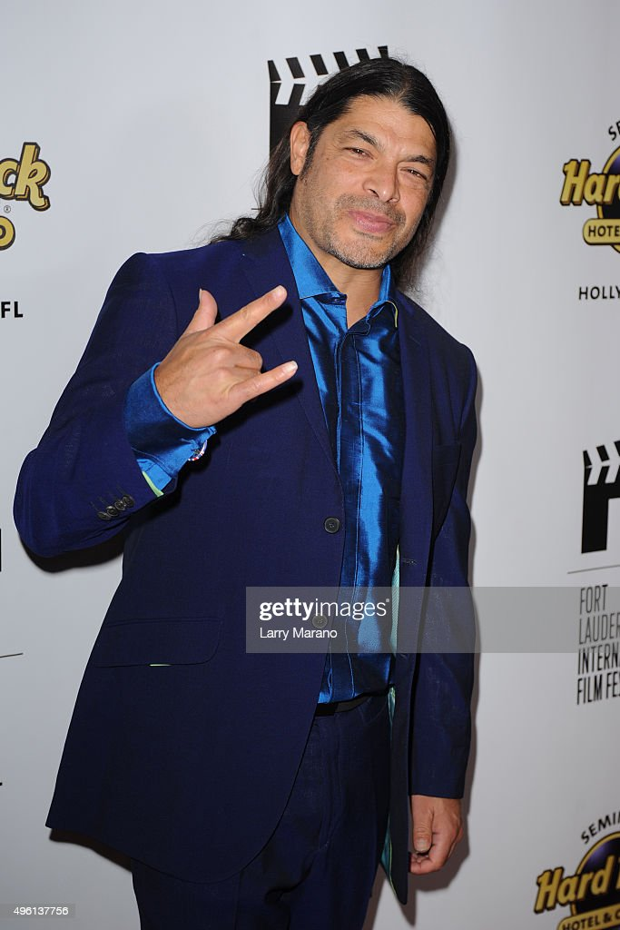 Robert Trujillo attends the Fort Lauderdale International Film Festival - Opening Night at Seminole Hard Rock Hotel on November 6, 2015 in Hollywood, Florida.