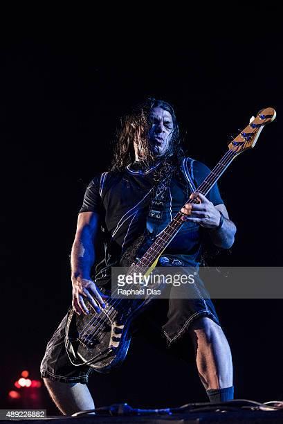 Robert Trujillo from Metallica performs at 2015 Rock in Rio on September 19 2015 in Rio de Janeiro Brazil