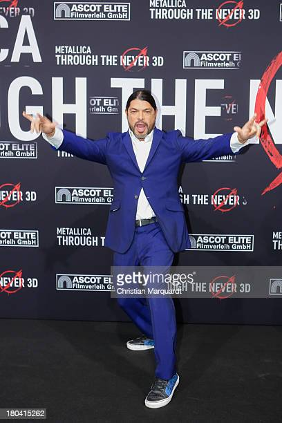Robert Trujillo of Metallica attends the German premiere of 'Metallica Through The Never' on September 12 2013 in Berlin Germany