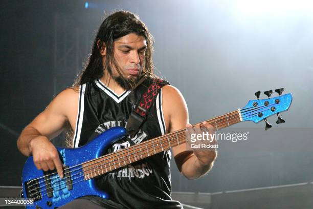 Robert Trujillo of Metallica during 2004 Download Festival June 6 2004 at 8 Abbey Gardens in Donington Great Britain