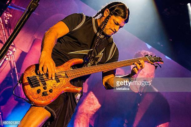 Robert Trujillo of Metallica performing at Reading Festival at Richfield Avenue on August 29 2015 in Reading England