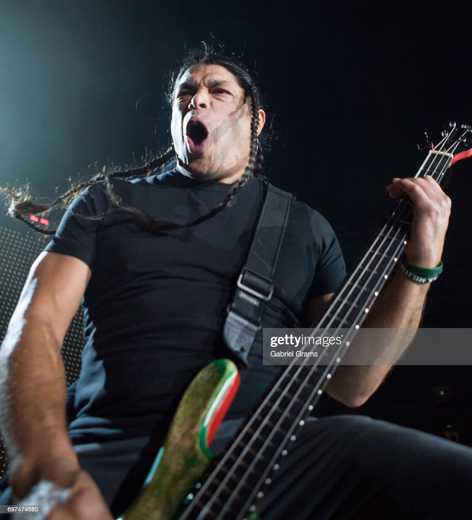 Robert Trujillo of Metallica performs at Soldier Field on June 18, 2017 in Chicago, Illinois.