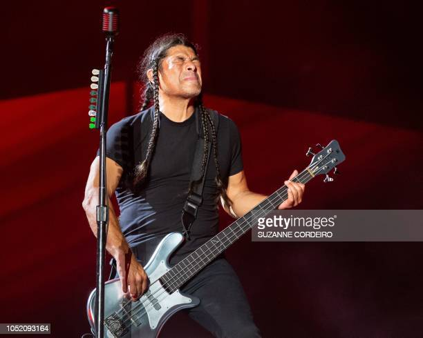Robert Trujillo of Metallica performs during the 2018 Austin City Limits Music Festival at Zilker Park on October 13, 2018 in Austin, Texas.