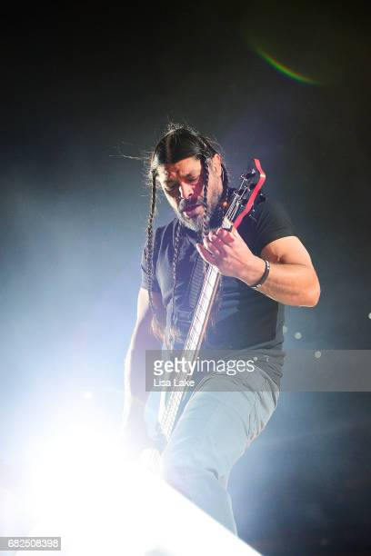 Robert Trujillo of Metallica performs live on stage at Lincoln Financial Field on May 12 2017 in Philadelphia Pennsylvania